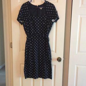 Like new Eva Mendes NY & Co Navy Dot dress!